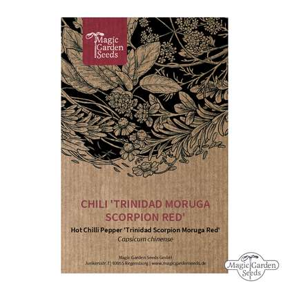 Chili 'Trinidad Moruga Scorpion Red' (Capsicum chinense)